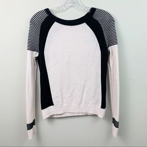 American Eagle Pink Two Tone Thin Knit Sweater